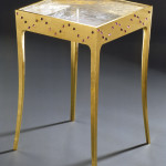 Elizabeth Garouste & Mattia Bonetti Side Table Petite Etoile, 1991 Rock crystal, amethyst, gilded wood Produced by Eva-Maria Melchers Courtesy of Edizioni Galleria Colombari, Milan