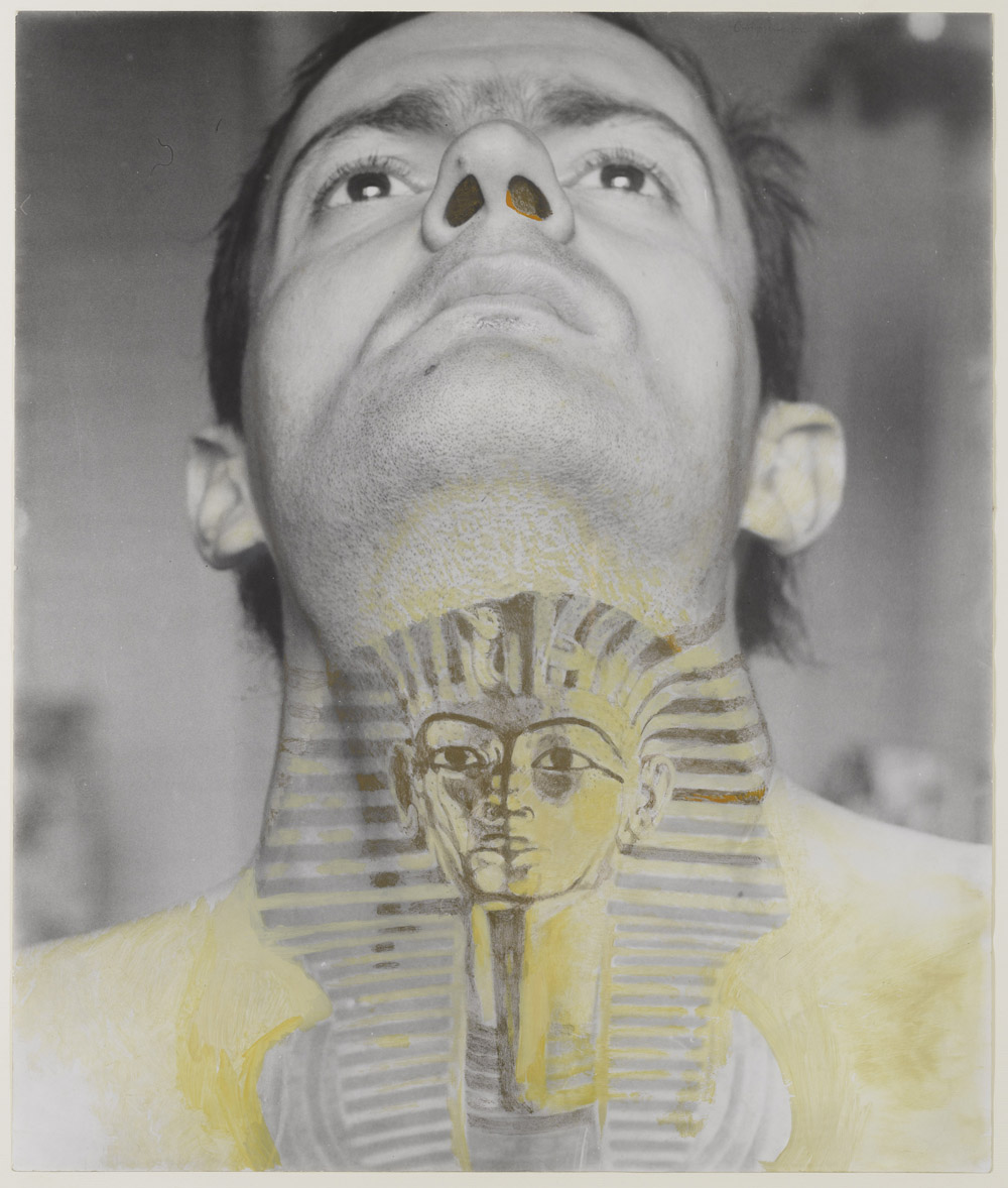 Ion Grigorescu ION GRIGORESCU Autoportrait avec Tutankhamon 60x50cm 1F