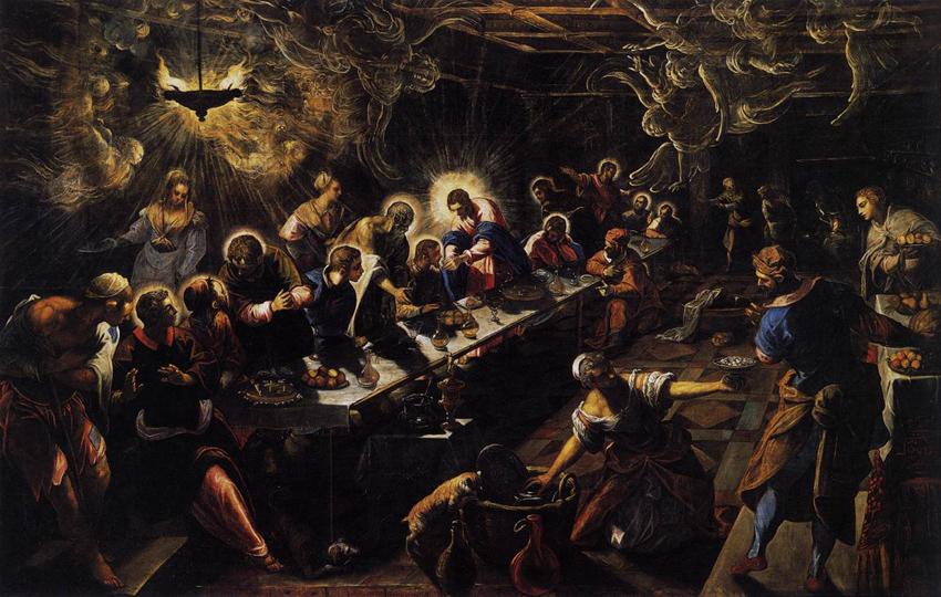 The Last Supper, Tintoretto, San Giorgio Maggiore Basilica, Venezia