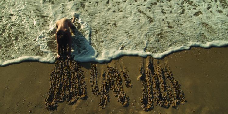 "Sigalit Landau Mermaids (Erasing the Border of Azkelon), 2011 Still Video projection on the floor, with sound, 12""21' © Sigalit Landau Courtesy the artist and kamel mennour, Paris"