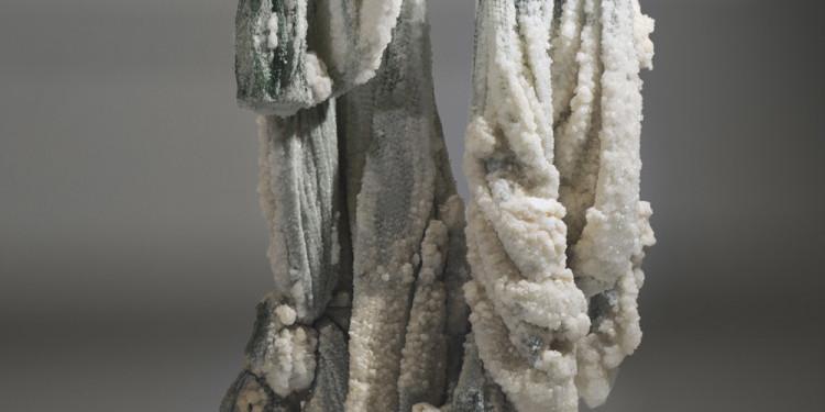 Sigalit Landau Salt Crystal Fishing Net, 2011 Fishing net Suspended in the Dead Sea waters 75x162x40 cm Installation view, Israeli Pavilion, 54th Venice Biennale, Venice, 2011 © Sigalit Landau Courtesy the artist and kamel mennour, Paris