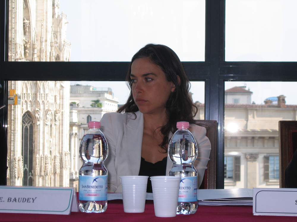 Emma Baudey, Arts and Culture Manager and curator for Bank of America, press conference, Septeber 29th, 2011, Museo del Novecento, Milan