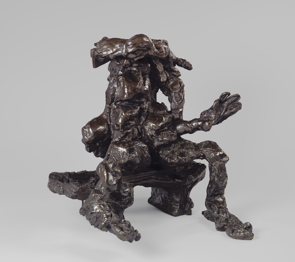 "Willem de Kooning (American, born the Netherlands. 1904-1997) Seated Woman on a Bench 1972 Bronze 37 3/4 x 36 x 34 3/8"" (95.9 x 91.4 x 87.3 cm) Private collection © 2011 The Willem de Kooning Foundation/Artists Rights Society (ARS), New York"