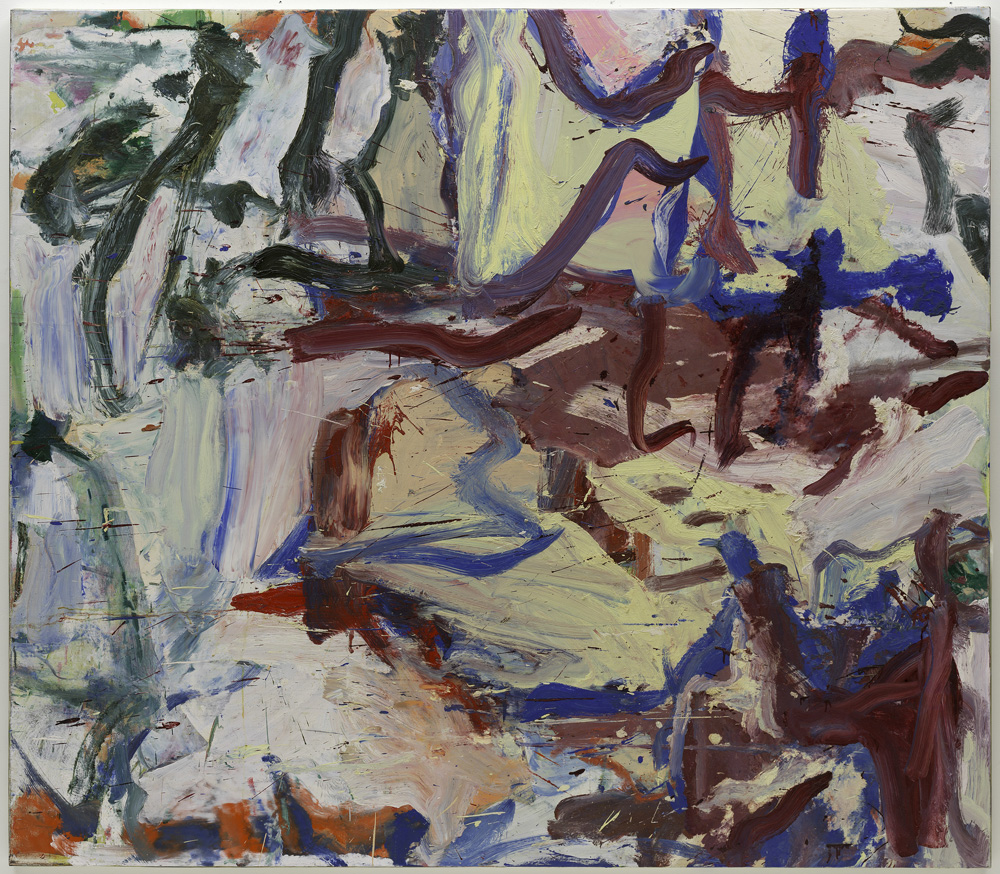 """Willem de Kooning (American, born the Netherlands. 1904-1997) ...Whose Name Was Writ in Water, 1975 Oil on canvas 76 3/4 x 87 3/4"""" (195 x 222.9 cm) Solomon R. Guggenheim Museum, New York © 2011 The Willem de Kooning Foundation / Artists Rights Society (ARS), New York"""