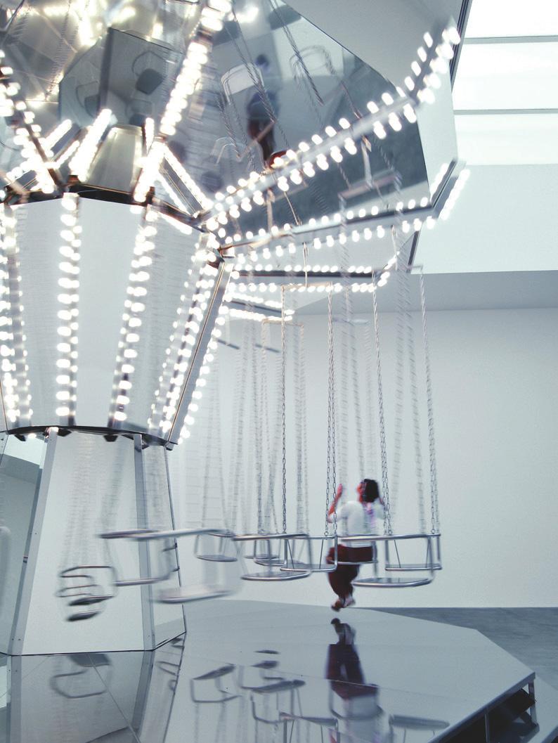 "Carsten Höller, Mirror Carousel, 2005. Installation view, ""Logic,"" Gagosian Gallery, London. Photo: © Attilio Maranzano"