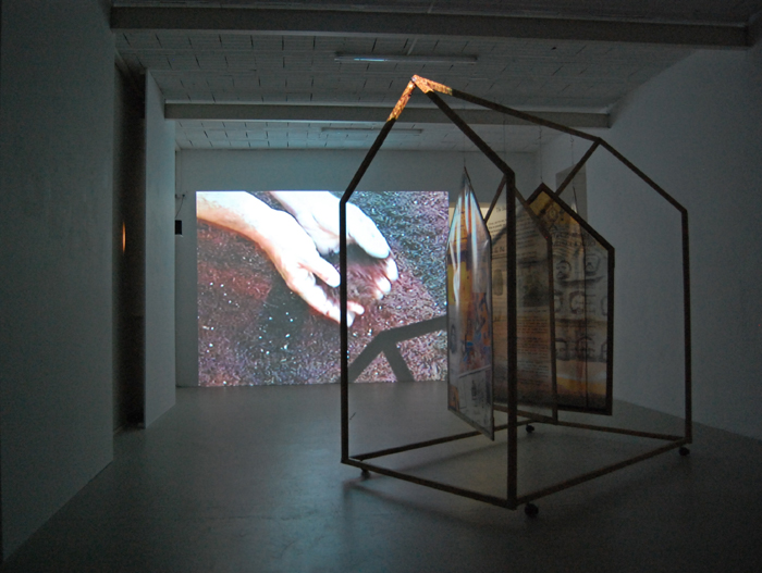 Alina Mnatsakanian, House on Wheels, mixed media installation, 2000