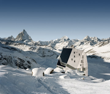 ETH-Studio Monte Rosa with Bearth & Deplazes Architekten AG, New Monte Rosa hut, Valais, Switzerland, 2009 ETH Zürich Corporate Communications photo: © Tonatiuh Ambrosetti