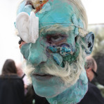 David Altmejd, Untitled, 2011, epoxy clay, plaster, glass eyes, synthetic air, acrylic paint, minerals, quartz, stainless steel, 97.8 x 25.4 x 33 cm) photo by Luca Viola