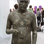 Marc Quinn, Zombie Boy (Rick), White Cube, Cu Pb Nn Fe Mg Si, 2011, Orbital-sanded and flap-wheeled lacquered bronze, 70 x 22 x 14 in. (178 x 56 x 35 cm) photo by Luca Viola
