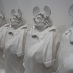 Darren Lago, Mickey de Balzac (petit) 2011, Slip cast glazed ceramic, Edition of 12, Each: 71.5 x 38 x 22 cm