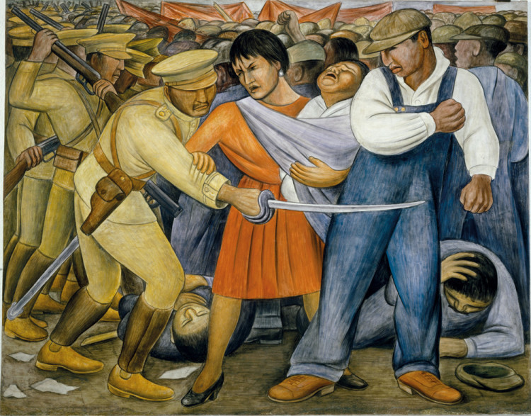 Diego rivera murals for the museum of modern art 1f for Diego rivera mural new york rockefeller