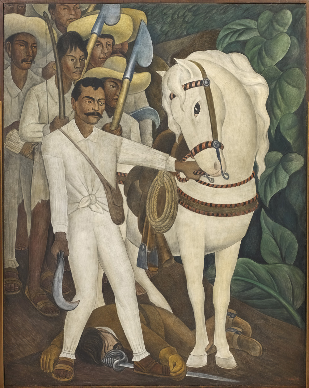 "Diego Rivera. Agrarian Leader Zapata, 1931. Fresco on reinforced cement in a galvanized-steel framework, 93 ¾ x 74"" (238.1 x 188 cm). The Museum of Modern Art, New York. Abby Aldrich Rockefeller Fund © 2011 Banco de México Diego Rivera & Frida Kahlo Museums Trust, México, D.F./Artists Rights Society (ARS), New York"