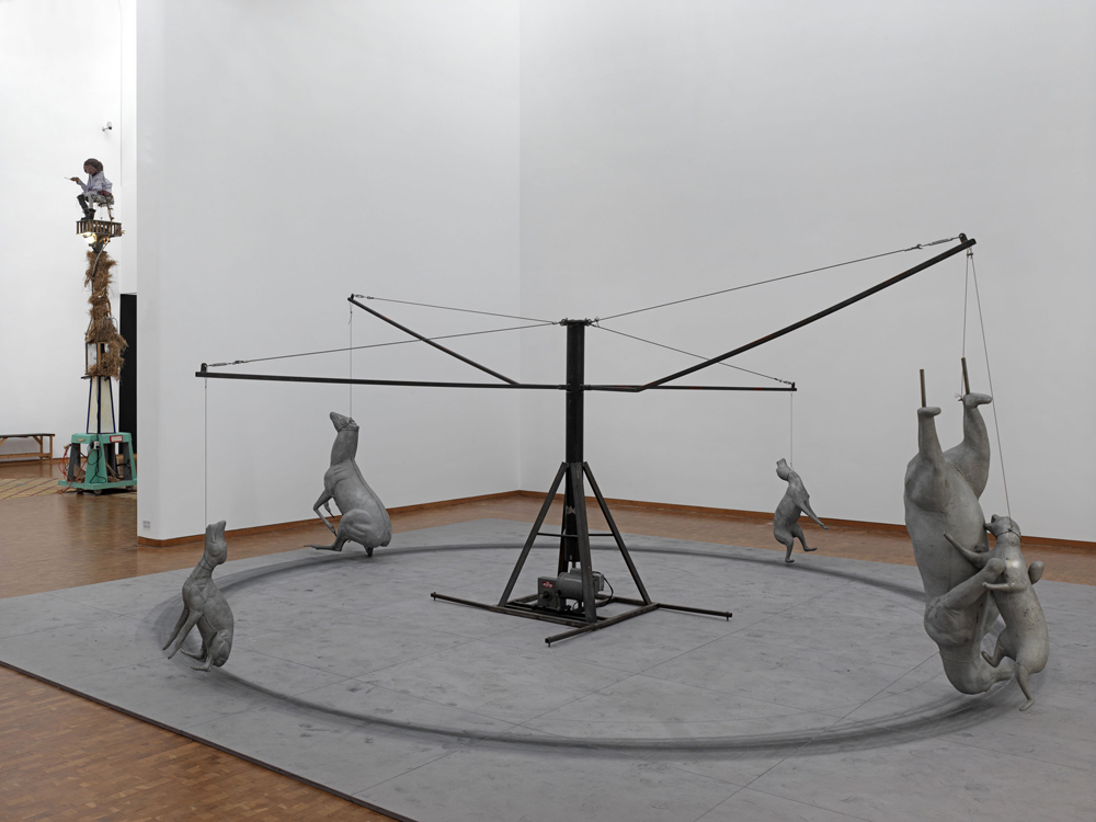 Bruce Nauman Carousel, 1988 Stahl und Aluminium Höhe: 213,4 cm, Durchmesser: 550,5 cm Gemeentemuseum Den Haag Foto: Achim Kukulies © VG Bild-Kunst, Bonn 2011