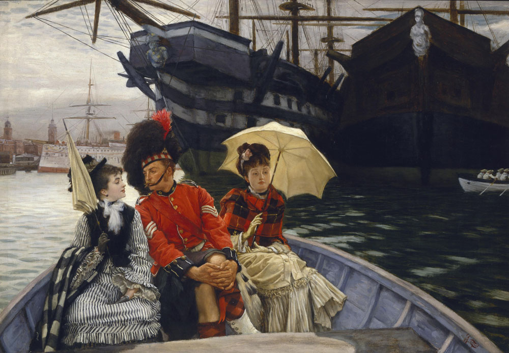 James Tissot Portsmouth Dockyard c.1877 © Tate