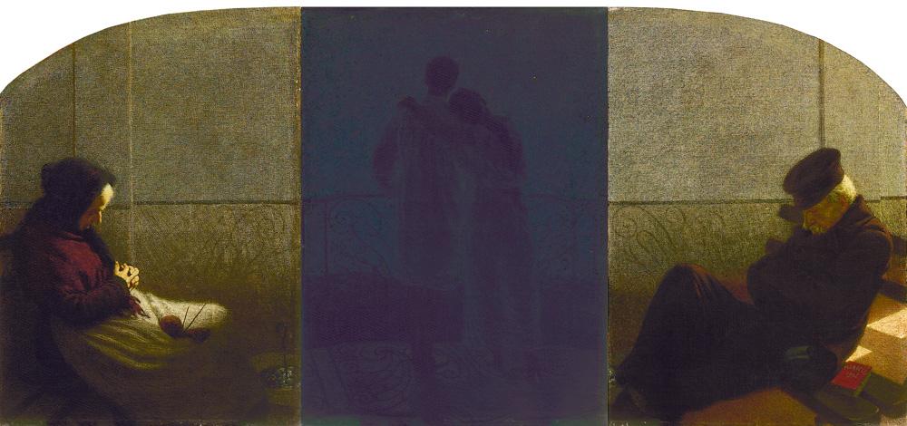 Angelo Morbelli (Alessandria 1853 – Milano 1919) Sogno e realtà, 1905 Olio su tela, trittico, 112 x 77 cm, 112 x 79 cm, 112 x 77 cm Collezione Fondazione Cariplo