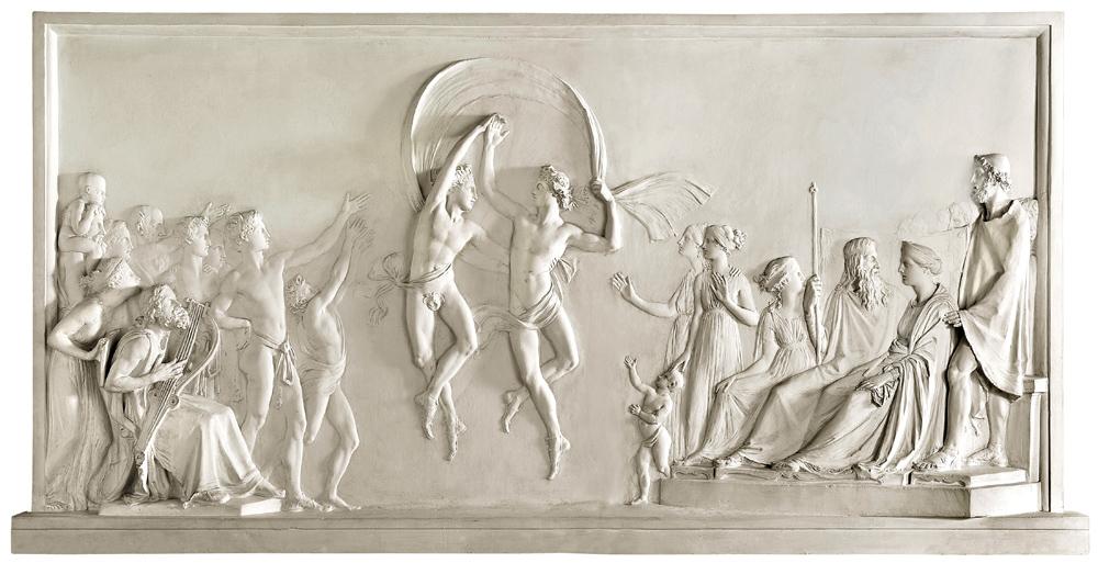 Antonio Canova (Possagno, Treviso 1757 – Venezia 1822) Danza dei figli di Alcinoo, 1790-1792 Gesso, 141 x 281 cm Collezione Fondazione Cariplo