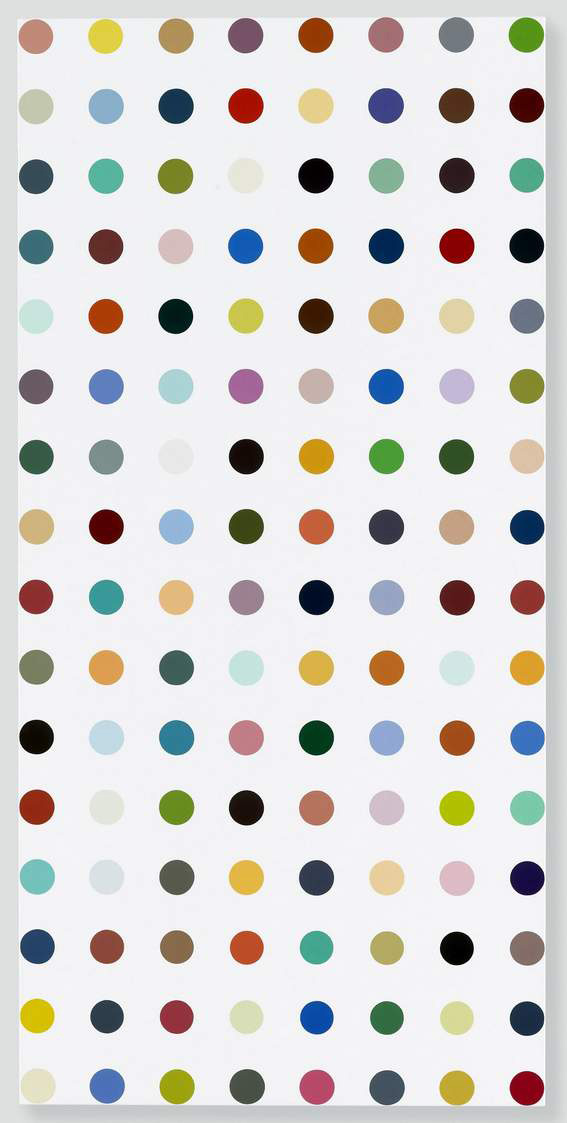 DAMIEN HIRST Famotidine, 2004-2011 Household gloss on canvas 62 x 30 inches 157.5 x 76.2 cm. Photographed by Prudence Cuming Associates Ltd. All rights reserved, DACS 2011, Courtesy Gagosian Gallery