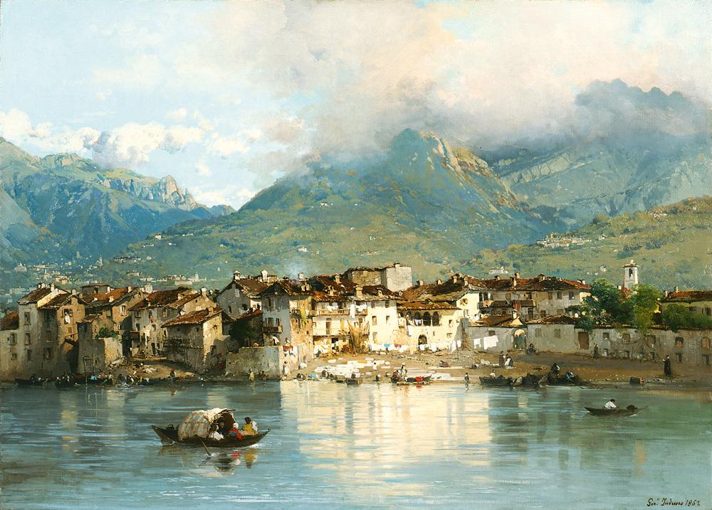Gerolamo Induno (Milano 1825 – 1890) Pescarenico, 1862 Olio su tela, 57,5 x 79,5 cm Collezione Fondazione Cariplo