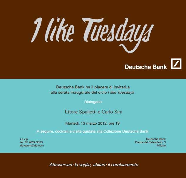 Piazza Del Calendario 3 Milano.I Like Tuesdays Ettore Spalletti And Carlo Sini Deutsche