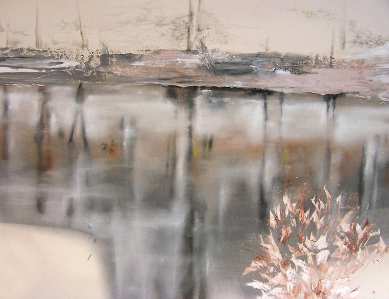 Liquiscape 03 - olio e grafite su tela cm 75x90