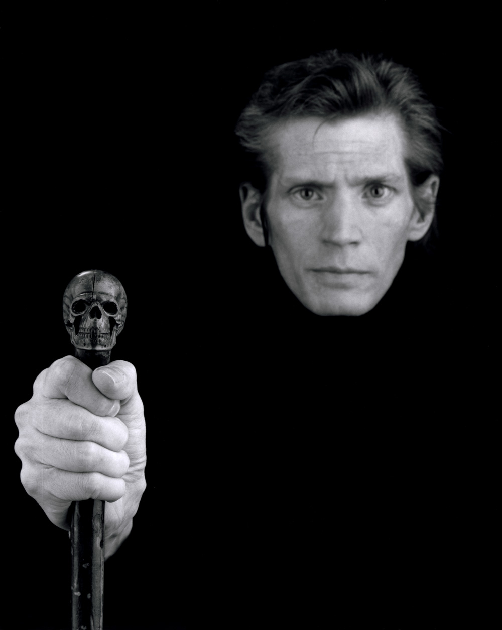 Robert Mapplethorpe Önarckép / Self Portrait, 1988 © Robert Mapplethorpe Foundation. Used by permission.