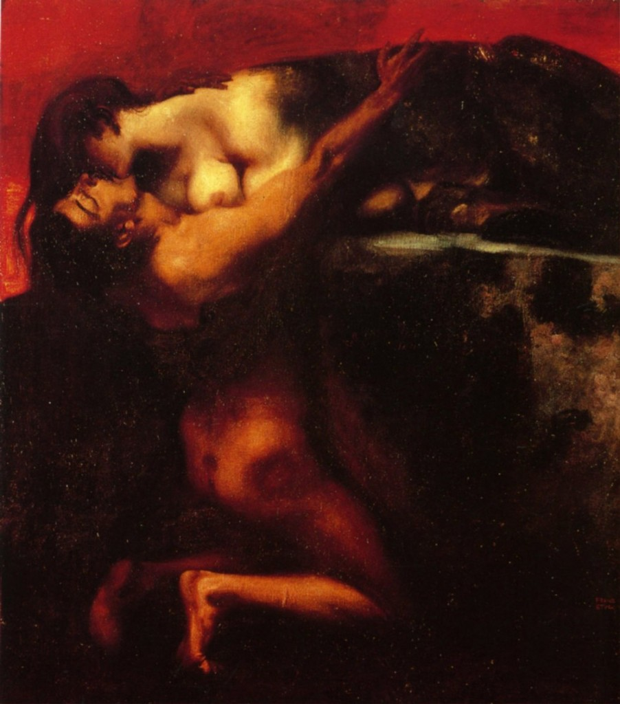 Franz von Stuck, The Kiss of the Sfinx (1895)