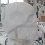 "Consolle ""Tatoo Skull"" plexiglass with application 170 h. x 49 x 42 cm. Limited Editions N.1/9 Year 2011 Edizioni Galleria Colombari"