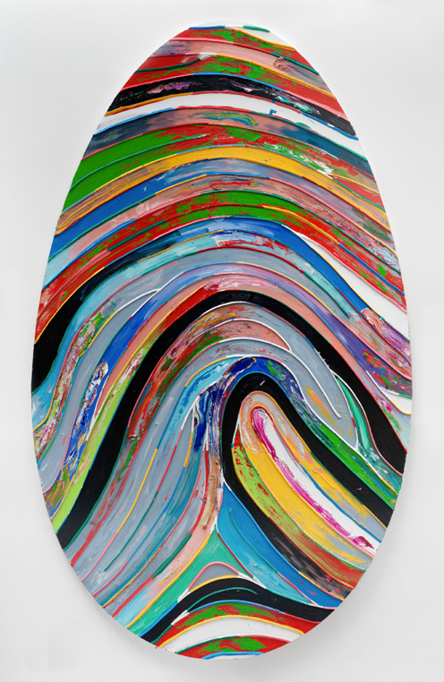 Chromatic Labyrinth 360 Loig near Salzburg, 2011-2012, Huile acrylique et silicone sur toile 360Hx220W cms, © Marc Quinn/Todd White Art Photography. Courtesy of Galerie Thaddeus Ropac, Paris Salzburg