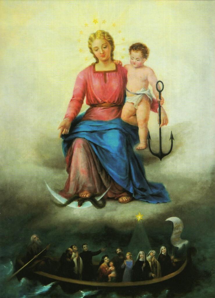 Ignoto pittore di area romana, Madonna della Speranza, Sec. XIX, Olio su tela