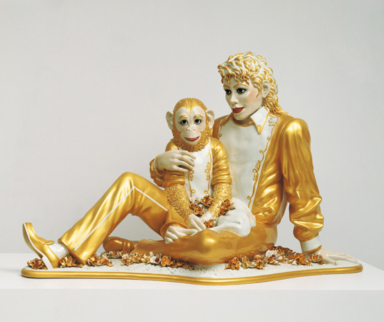 Jeff Koons, Michael Jackson and Bubbles, 1988, Banality, Porzellan, cm © Jeff Koons