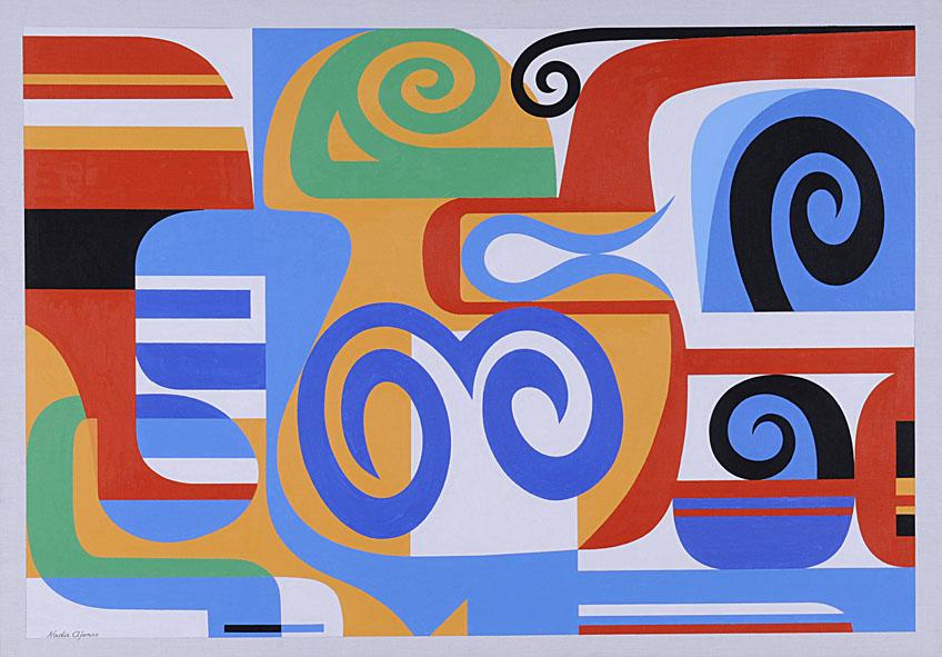 Nadir Afonso, Horus, 1953, ‡leo sobre tela, cm 95,5 x 135,5