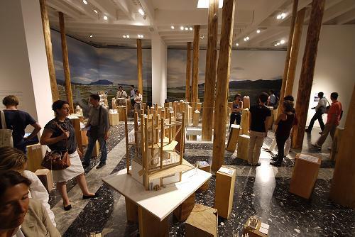 Installation view in the Japan Pavilion Photo: Naoya Hatakeyama