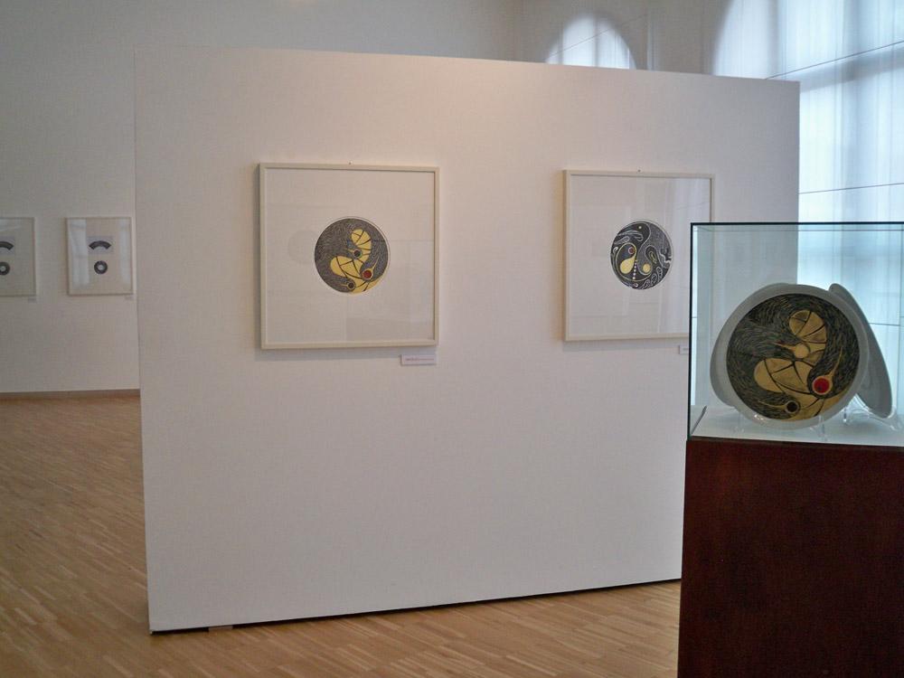 Allestimento della mostra antologica a cura di Gillo Dorfles all'Aurum di Pescara, 2011 - Foto Fabio Di Zio