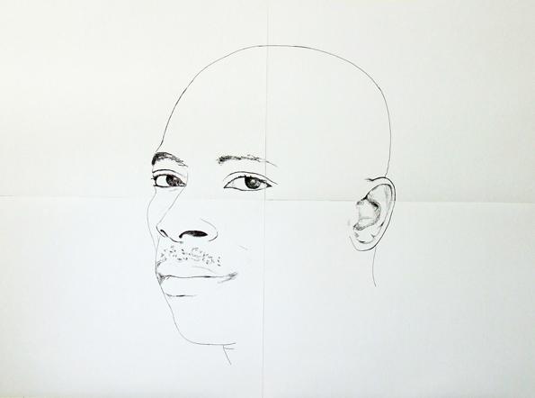 Lello Lopez-2012-Ibrahim-pennarello su carta - cm 140 x 200