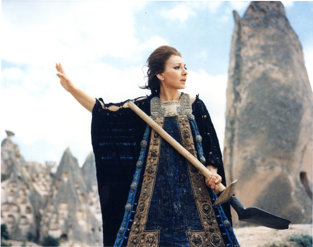 Medea. 1969. Italy, France, Germany. Directed by Pier Paolo Pasollini. Pictured Maria Callas. Image courtesy of The Museum of Modern Art.