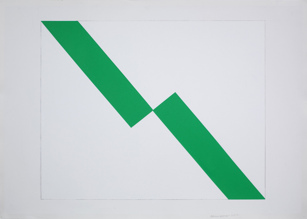 Carmen Herrera Untitled, 2012 Acrylic and pencil on paper Courtesy the artist and Lisson Gallery (image ref #: HERR120017)