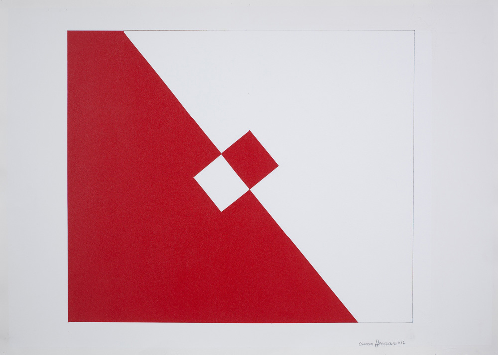 Carmen Herrera Untitled, 2012 Acrylic and pencil on paper Courtesy the artist and Lisson Gallery (image ref #: HERR120036)