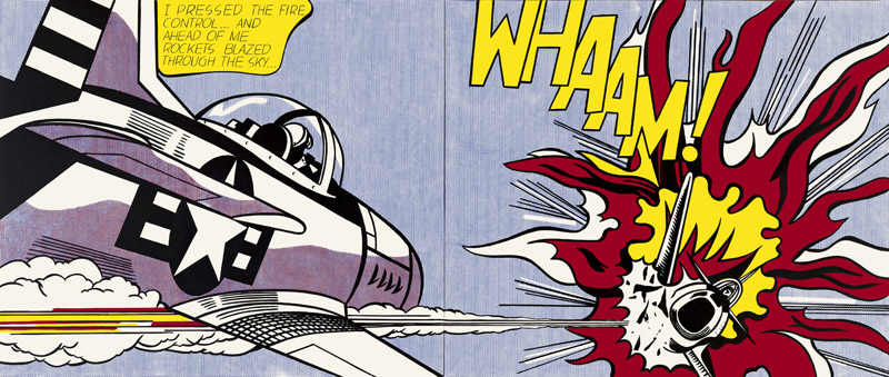 Roy Lichtenstein, Whaam! 1963 Tate. © Estate of Roy Lichtenstein/DACS 2012