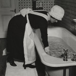 Bill Brandt (British, born Germany. 19041983). Parlourmaid Preparing a Bath before Dinner. c. 1936. Gelatin silver print. 9 1/16 x 7 11/16 (23 x 19.5 cm). The Museum of Modern Art. Horace W. Goldsmith Fund through Robert B. Menschel.  2012 Bill Brandt Archive Ltd.