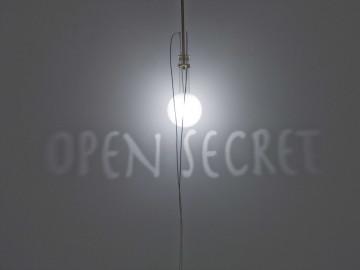 FABRIZIO CORNELI Open Secret, 2008 Bottle dimension cm20x25x35 frosted glass, brass, halogenlamp