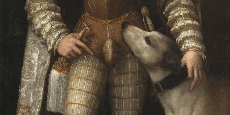Tiziano Vecellio Ritratto di Carlo V con il cane, 1533 Olio su tela Madrid, Museo Nacional del Prado