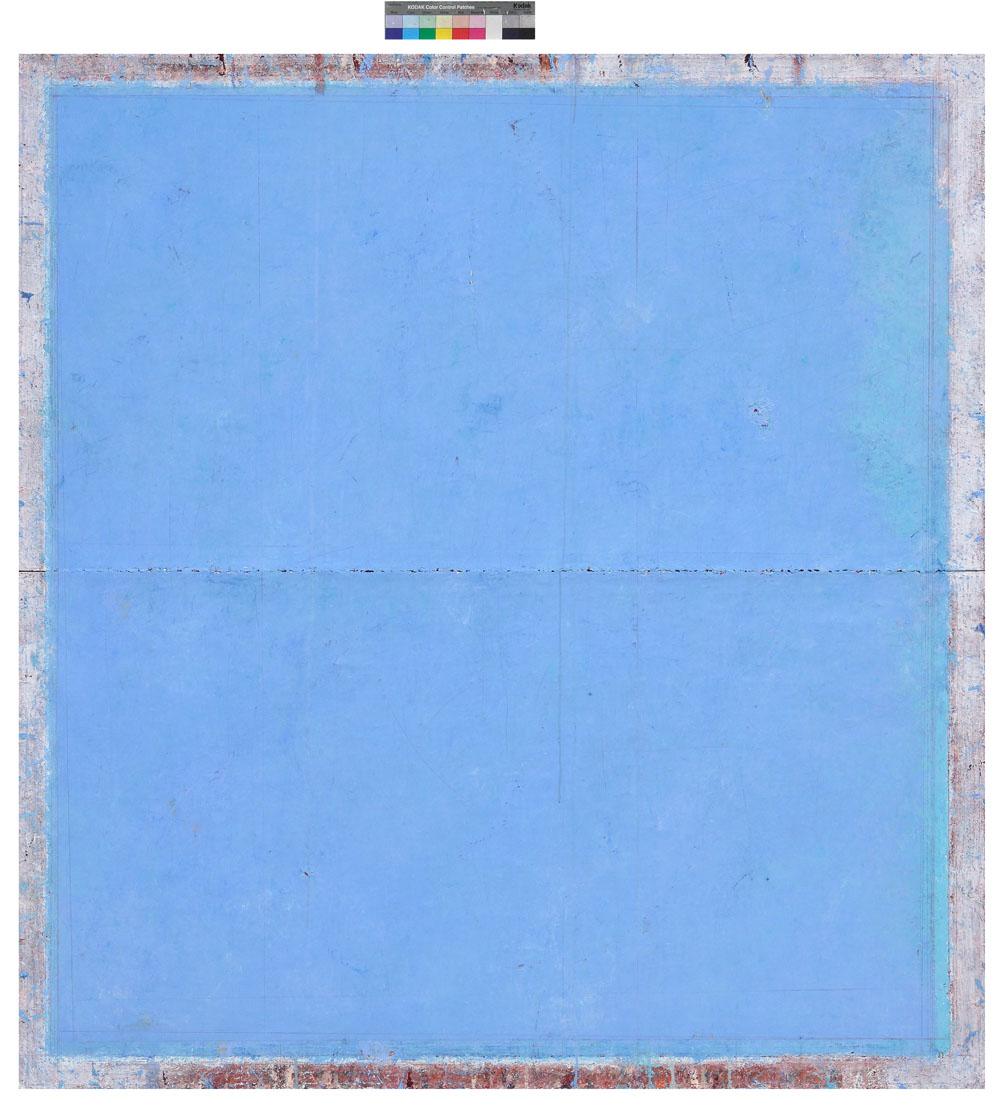 Cobalto deep Lake - cm 140 x cm 130 - olio e matita su tela , 2008-11 (M)
