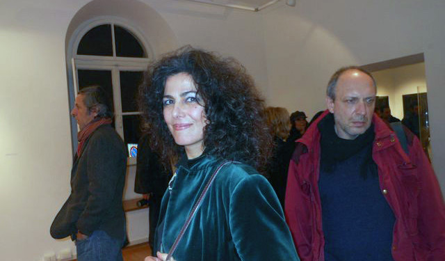 Roberto Caracciolo (sin.), Liliana Malta