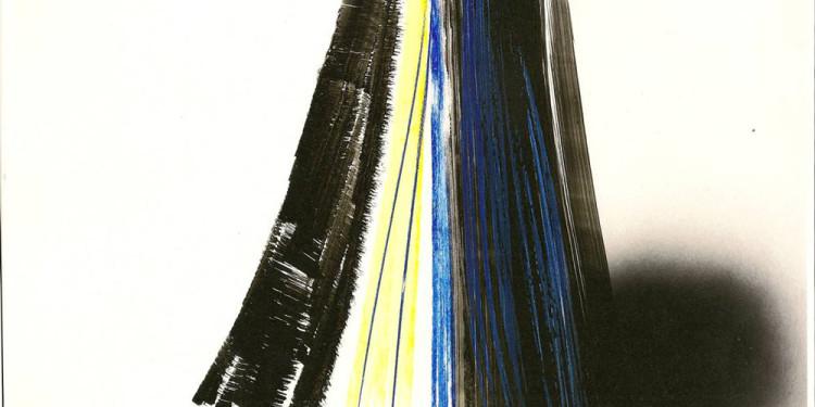 Hartung Hans Galerie Alexis Lartigue composition, 1970 74 x 104 cm, acrylique sur carton
