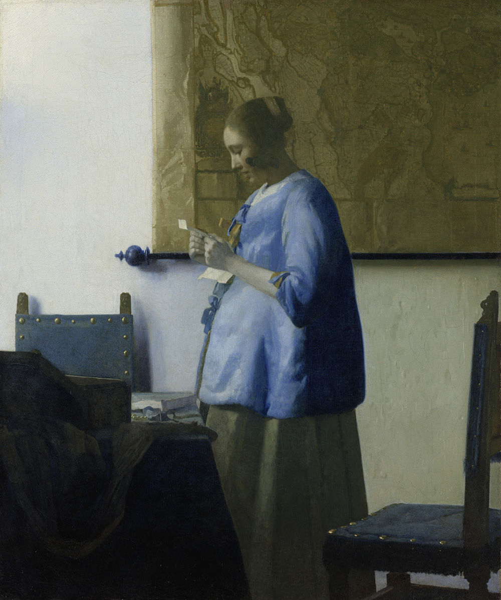 Johannes Vermeer (1632-1675 )- Woman Reading a Letter