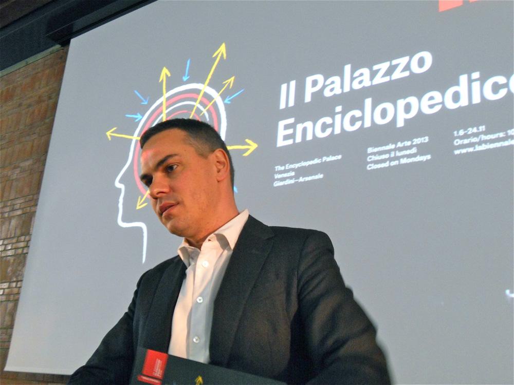 Massimiliano Gioni - Conferenza stampa, Roma 13 marzo 2013