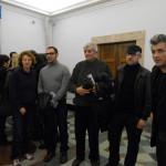 alcuni artisti del Padiglione Italia presenti alla conferenza stampa, Roma 6 Febbraio 2013 - Elisabetta Benassi, Marcello Maloberti, Gianfranco Baruchello, Daniele Venturelli, Sislej Xhafa