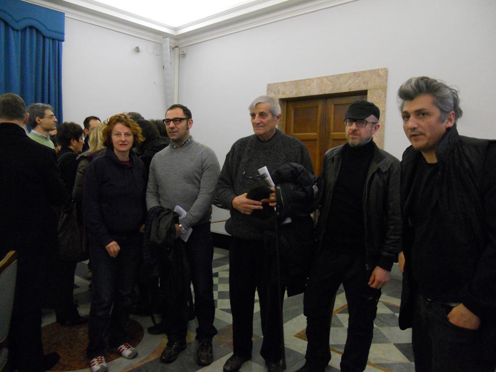 alcuni artisti del Padiglione Italia presenti alla conferenza stampa, Roma 6 Febbraio 2013