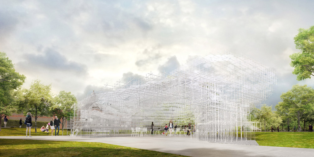 Serpentine Gallery Pavilion 2013 Designed by Sou Fujimoto Exterior Indicative CGI © Sou Fujimoto Architects
