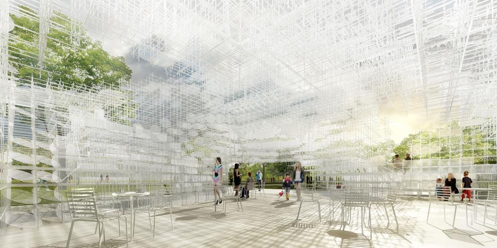 Serpentine Gallery Pavilion 2013 Designed by Sou Fujimoto Interior Indicative CGI © Sou Fujimoto Architects